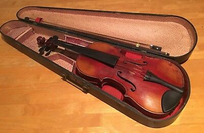 Old Used Vintage Antique Violin Fiddle Joseph Guarnerius Cremonae Anno 17 Music