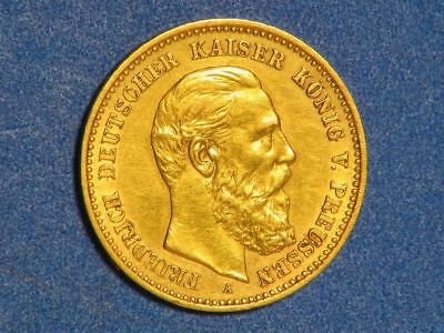 GERMANY-PRUSSIA 1888A 10 Mark GOLD XF-AU