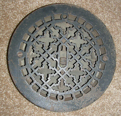 Victorian Antique Cast Iron Heat Register Vent or Unique Front Door Viewer.