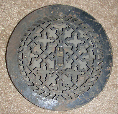 Victorian Antique Cast Iron Heat Register Vent or Unique Front Door Viewer #2