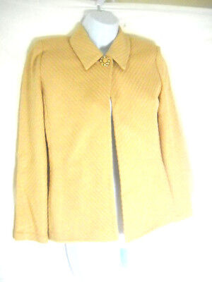 St John collection by Marie Gray blazer suit jacket Size 0 Tan/camel knit  Women