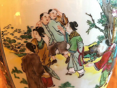 An Excellent Chinese Qing Dynasty Famille Rose Vase, Lamp.