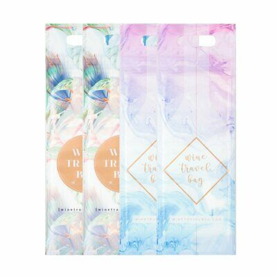 Wine Travel Bag - Floral & Marble Mix Pack  - Pack of 4