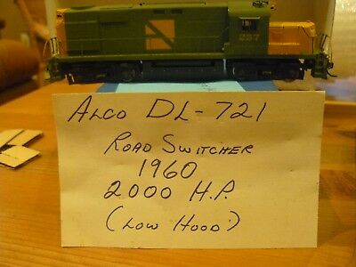 H.O Brass Alco Models ready to run painted DL721 mint condition