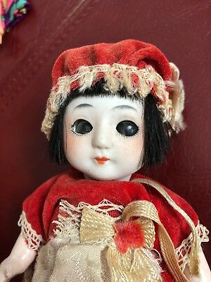 Antique Bisque Composition Asian Japanese Chinese Jointed Baby Doll