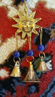 Brass Three Bell Sun Wind Chime New Age Chimes Brass Bell Garden Chime