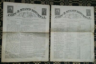 Lot of 4 Different Rare 1875 Coin & Stamp Journal Publications !!