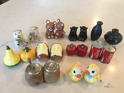 Lot of 10 Vintage Sets Salt and Pepper Shakers