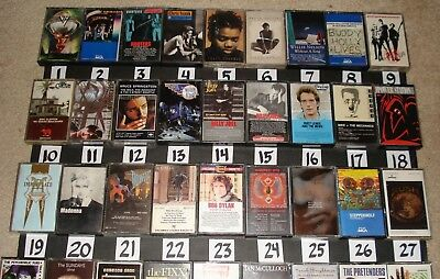 MUSIC CASSETTE TAPES Pick 1 Free Combined Shipping WHO RUSH Petty Boston Lot 2