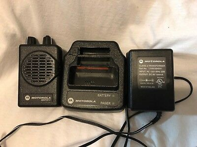 VHF Motorola Minitor V 5 Pager STORED VOICE 2 Channel Pager Battery & Charger
