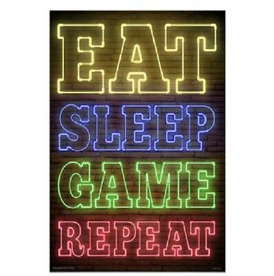 Eat, Sleep, Game, Repeat POSTER 61x91cm NEW
