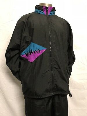 Vintage 90's Umbro Windbreaker Soccer Jacket Pants Track Jogging Suit Workout L