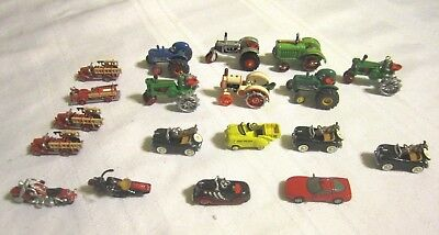 19 Nice Hallmark Tractors,Fire Trucks,Cars, and Motorcycle, Ornaments
