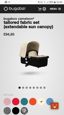 Bugaboo Colour Pack-Cream used with box