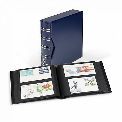 Lighthouse Album for 200 Letters, FDCs, Postcards Blue Cover with Slipcase