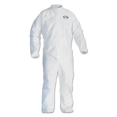 Coverall Wht Elastic Back/Wrists/Ankles Lrg  - 1 Each
