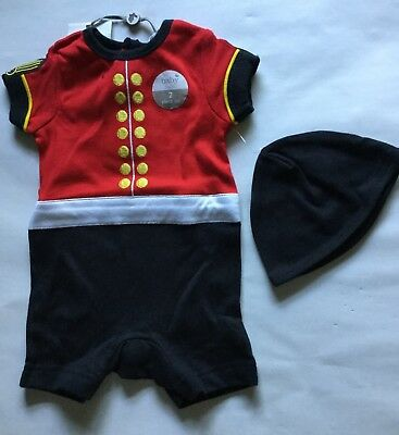 Baby Boy Red, Black and Gold Sleepsuit with Grenadier Guard detail