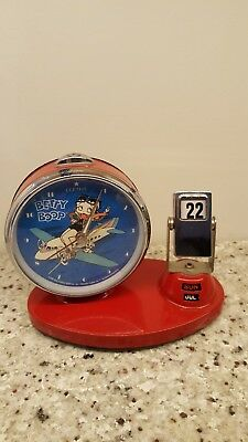 Rare Betty Boop Clock W/calendar, 1995 King Features Syndicate, inc. Works great