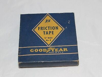 """Vintage Good Year Friction Tap Box & Tape No. 8 3/4"""""""