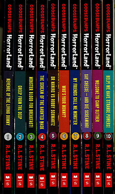 Goosebumps HorrorLand 10 Book Pack  By R L Stein Children's Spooky Scary Stories