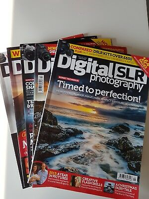 Digital SLR Photography magazine bundle 5 2014 editions