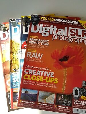 Digital SLR Photography magazine bundle 4 2012 editions Sep-Dec