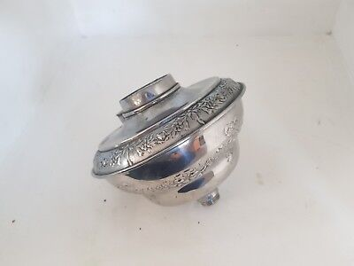 Antique Original Victorian Chrome Brass Oil Lamp Font 23Mm Fitting Screw Thread