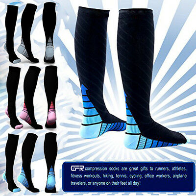 Copper Compression Socks Anti Fatigue Unisex Travel DVT Comfort Medical Sleeve