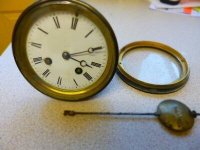 Antique French Clock Movement parts spares   repairs .