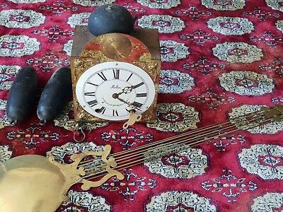 19th C. French Morbier Comtoise Porcelain Dial Wag On Wall Clock No: 38 of 1000