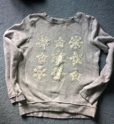 H&M Girls festive  Snowflake and Stars Long Sleeved Top Age 14+ years.