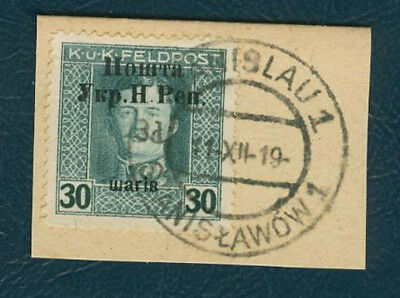 Western Ukraine 30sh/30h Austr Military Issue Second Stanyslavia surcharge overp