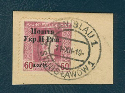 Western Ukraine 60sh/60h Austr Military Issue Second Stanyslavia surcharge overp