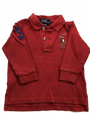 Ralph Lauren Polo Shirt Long Sleeves Boys Size 18 Months
