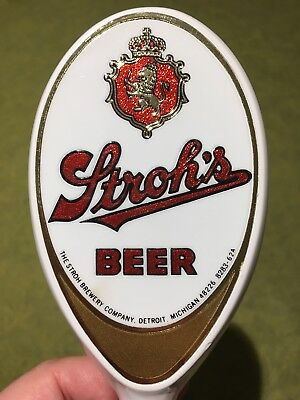 Stroh's Beer Tap Handle, Excellent Condition, No Chips Scratches Or Dings