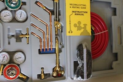 Welding and Cutting Torch Kit Oxygen Acetylene 15 PC Pro Series