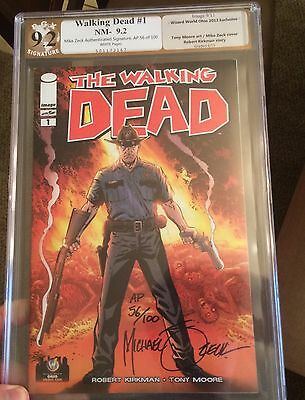 The Walking Dead 1 Zeck Rare Artist Proof 56/100 & Signed Rick Grimes Art print