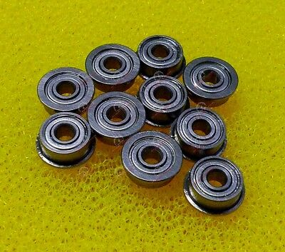 QTY 10 6x12x4 mm SMF126zz MF126zz 440c Stainless Steel FLANGED Ball Bearing