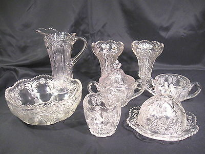 Indiana Glass Jeweled Butterfly Lot of 8 Pieces