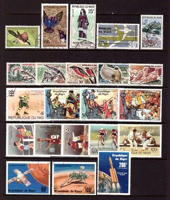 NIGER - 2 Scans - Birds, Football, Sport, Space - inc. high values - mostly used