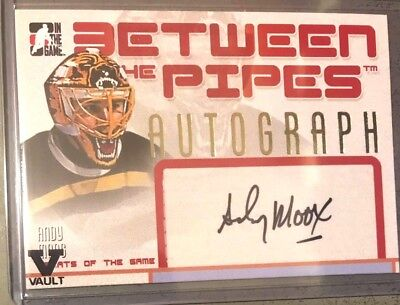 2015-16 ITG Final Vault - 06-07 Between the Pipes GOTG Auto - Andy Moog - #1405