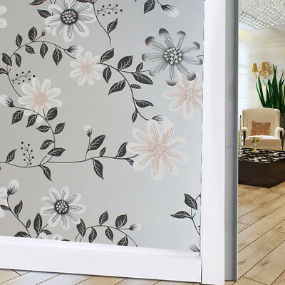 Privacy Frosted Etched Glass Window Home Door Opal Effect Roll Film Sticker 6A