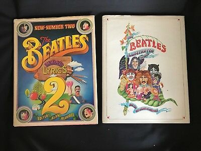 The Beatles Illustrated Lyrics HC Books Number 1 and 2 Lot Set