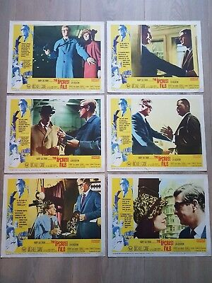 The Ipcress File 1965 6 Original US Lobby Cards - Michael Caine - Harry Palmer
