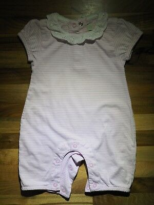 Jojo maman bebe, baby girl 3-6 Month - Pink striped romper