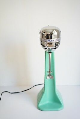 Working Vintage Oster Jadite Green Milkshake Drink Mixer 2 Speed Model 40