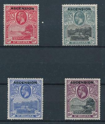 [30221] Ascension 1922 Good lot Very Fine MH stamps