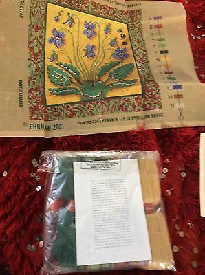 Ehrman Sweet Violet Medieval Tapestry/ Needlepoint Kit Candace Bahouth