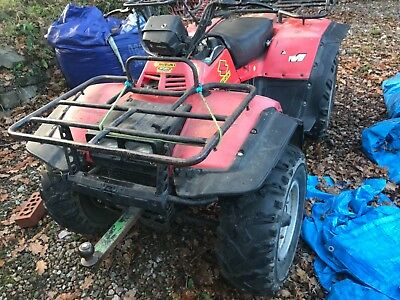 Suzuki Quad Bike RM red 13k miles spares or repair sold as seen collect only