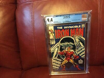 "Iron Man 8 CGC 9.4 ""White Pages"""